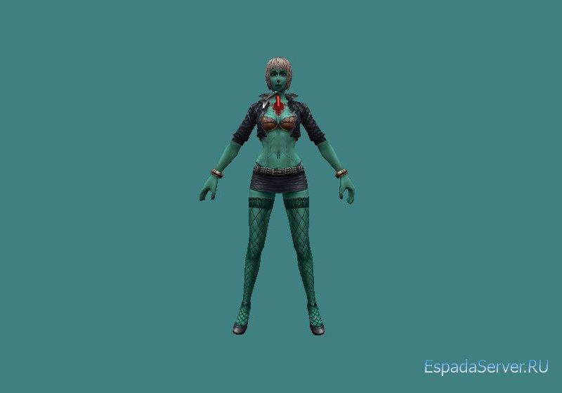 Модель зомби Girl Zombie для CS 1.6