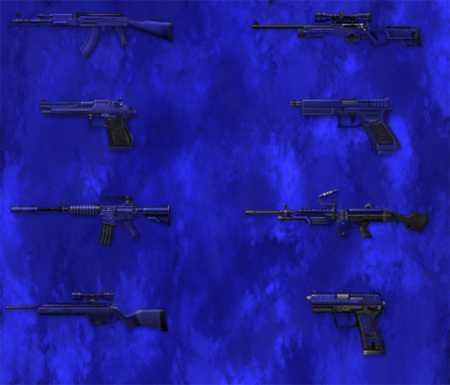 Набор синих моделей оружия для КС 1.6