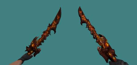 Модель ножа Dual Sword для кс 1.6