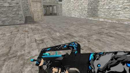 Модель HD  FAMAS «Tokolosi Neptune» из мастерской CS:GO для CS 1.6