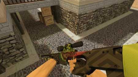 Модель HD AWP «Glasgow's Beast» с анимацией осмотра для CS 1.6