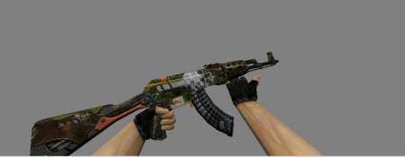 МОДЕЛЬ HD AK47 «SKULLIOSIS» ИЗ CS:GO ДЛЯ CS 1.6