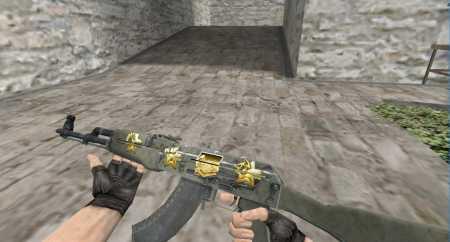 Модель HD AK-47 «Африканская сетка» c анимацией осмотра для КС 1.6