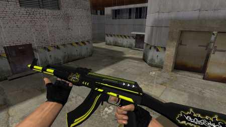 Модель HD AK-47 «Machine» с функцией осмотра для CS 1.6