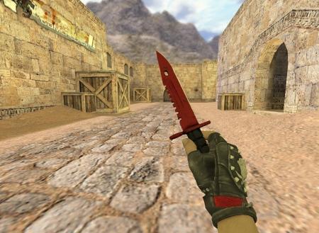 Модель HD ножа «M9 Bayonet | Crimson Web» с анимацией осмотра для CS 1.6