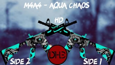HD Модель M4A4 «Aqua Chaos» для КС 1.6