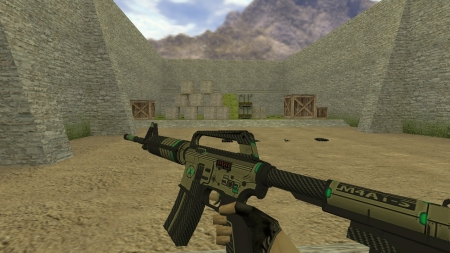 HD Модель  M4A1-S «Cyber (Reworked)» для CS 1.6