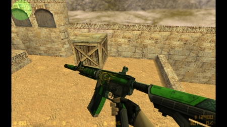 HD Модель  M4A4 «Jalapeno»  для CS 1.6