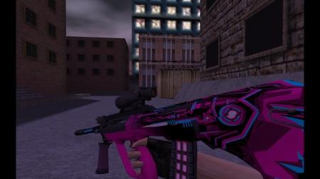 Модель  AUG «Strike» для CS 1.6