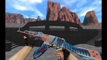 HD Модель  AK-47 «Wayfarer 80» для CS 1.6