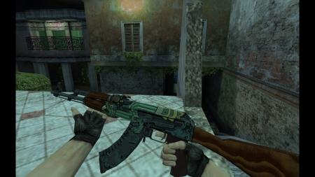 HD Модель AK-47 «Fire Serpent» (поношенное) для CS 1.6