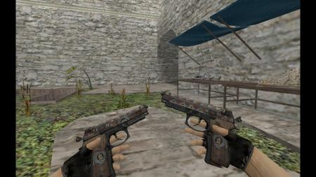HD Модель Dual Berettas «Tribal Sky» для CS 1.6