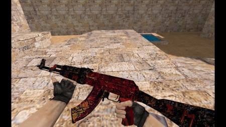 HD Модель AK-47 «Armagedon» для CS 1.6