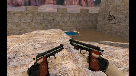 HDМодель Dual Berettas «Comrade: Military Black» для CS 1.6
