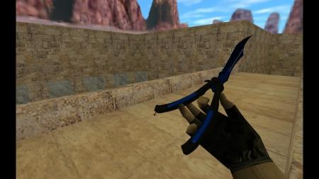HD Модель ножа  «Butterfly Knife | Doppler Sapphire» для CS 1.6