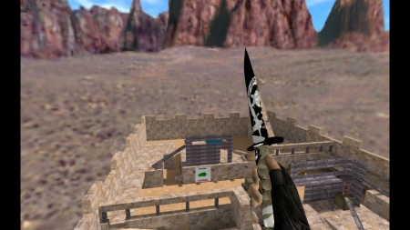 HD Модель ножа «M9 Bayonet | Wasteland Rebel» для CS 1.6