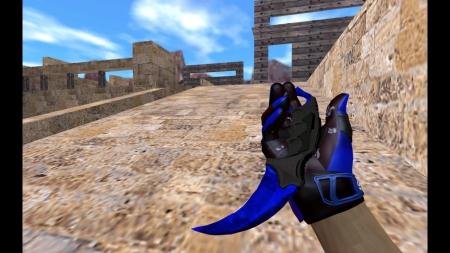 HD Модель ножа  «Karambit | Doppler Sapphire» для CS 1.6